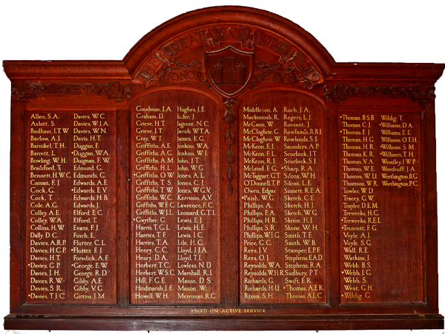 WWI Roll of Honour